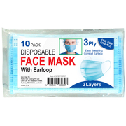 3ply Face mask with Ear loop 10pk