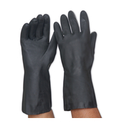 Pro Choice Black Neoprene Heavy Duty Chemical Resistant Gloves 33cm Size 8 Large