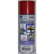 OzColour Dark Red Acrylic Spray Paint 300g