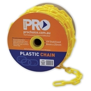 Pro Choice Plastic Chain Yellow 8mm x 25m Roll