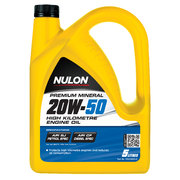 Nulon Premium Mineral 20w50 High Kilometre Engine Oil 5 Litre