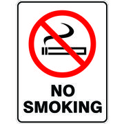 Prohibition No Smoking Sign 450 x 300mm Polypropylene