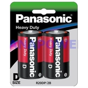 Panasonic D Size 2Pk Heavy Duty Battery