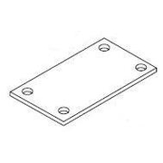 Rect Post Baseplate 130x90x5mm