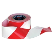 Pro Choice Red & White Barricade Tape 100m x 75mm Roll