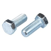 M10 x 40mm Hex Head Set Screw 8.8 Grade Zinc