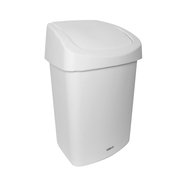 Sabco White Rubbish Bin 25 Litre