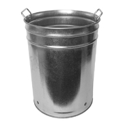 Sabco 55 Litre Galvanised Civic Bin With Handles