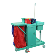 Deluxe Antibacterial Janitors Cart