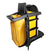Sabco Premium Roll Top Janitor Cart With Cover