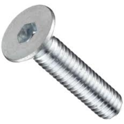 Socket Cap Screw Flat Head M8 x 20mm Zinc Plated 10.9 Grade