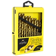 25pce Reduced Metric Alpha SLimbox Drill Set 1.0 - 13.0mm
