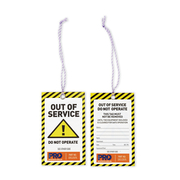 "Pro Choice ""Caution"" Safety Tags 100pk"