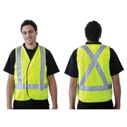 Pro Choice Yellow Day/Night Safety Vest X Back Large