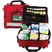 Trafalgar National Workplace First Aid Kit Portable Case Red