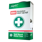 Trafalger WM1 Workplace First Aid Kit Wallmount Metal Case