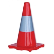 Pro Choice Orange Hi Vis Traffic Cone 450mm With Reflective Strip