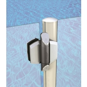 D&D Technologies TruClose Vizage Glass Hinges Polished Stainless Steel Look
