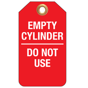 Empty Cylinder Do Not Use 25pk Tear Proof Tags