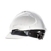 Tuff Guard White Vented Hard Hat 6 Point Web Harness Ratchet