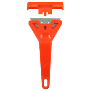Sterling Red Plastic Scrapper With Heavy Duty Blade