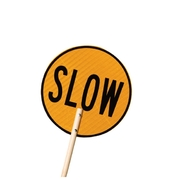 Stop/Slow Sign Class 1 Reflective Traffic Control Sign, Meets Australian Standards
