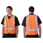 Orange Day Night Safety Vest H Back Pattern Medium