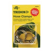 Tridon Hose Clamp 3pk Vehicle Handy Pack
