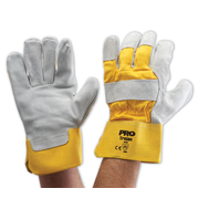 Pro Choice Yellow/Grey Work Gloves Leather