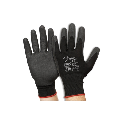 or 11 8 10 Prochoice Stinga Hand Protection Dipped Gloves Size 7 9
